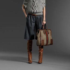 Gucci Pre-Fall 2011 Long Wool Shorts - Black